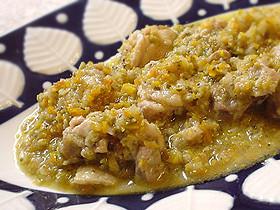 鶏肉の地中海風オリーブ煮