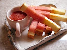 トマトのスティックパン
